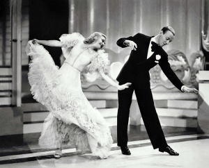 Swing Time (1936) Pers: Ginger Rogers, Fred Astaire Dir: George Stevens Ref: SWI004CE Photo Credit: [ RKO / The Kobal Collection ] Editorial use only related to cinema, television and personalities. Not for cover use, advertising or fictional works without specific prior agreement