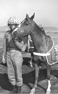 Sgt reckless with a fellow Marine
